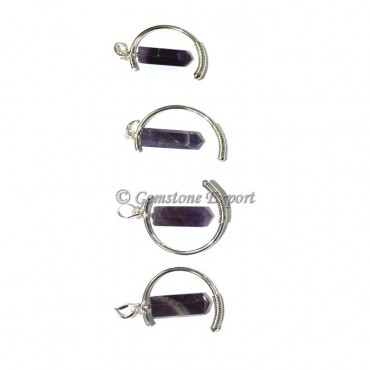 Amethyst Moon Pencil Pendants