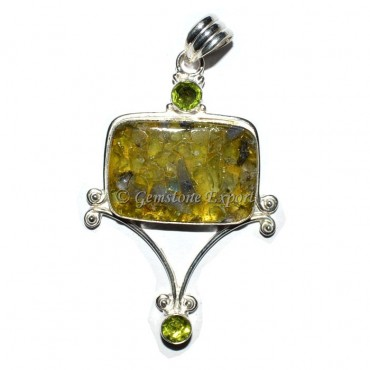 Peridot Orgonite Pendants