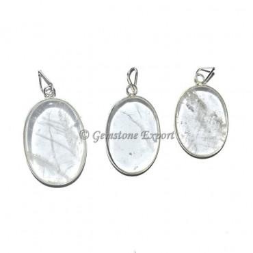 Crystal Quartz Oval Pendants