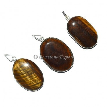 Tiger Eye Oval Pendants