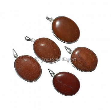Red Jasper Oval Pendants