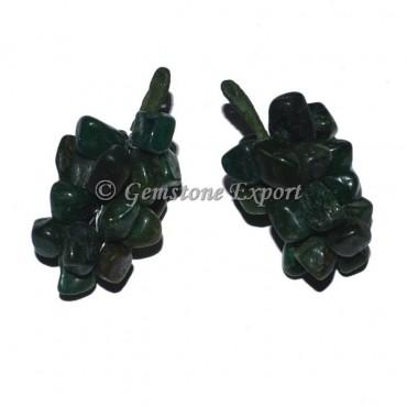 Green Jade Grapes Pendants