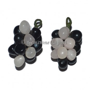 Black and Rose Grape Pendants