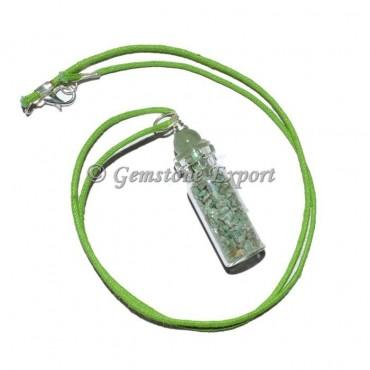 Green Aventurine Bottle Pendants with Green Ball