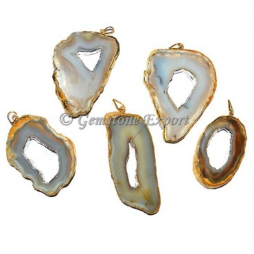 Agate Slices Pendants