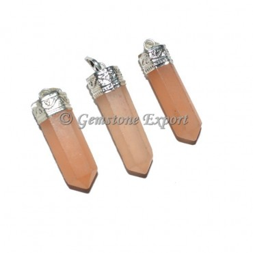 Orange Selenite Pencil Pendants
