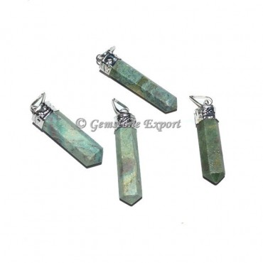 Ruby Zoisite Pencil Pendant