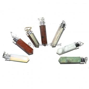 Assorted Stones Pencil Pendant