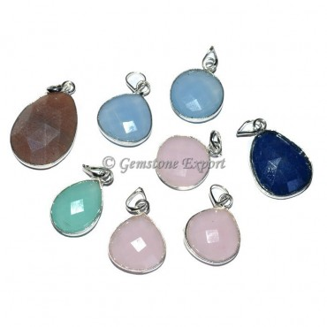 Faceted Stones Small Fashion Pendant