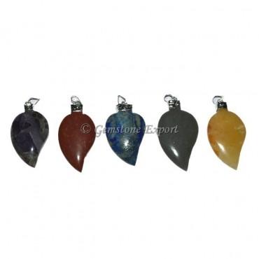 Leaf Stones Pendants