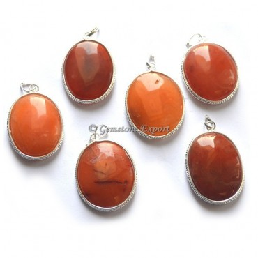 Red Carnelian Oval Pendant