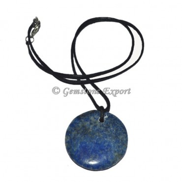 Lapis Lazuli Dis Stone Pendant