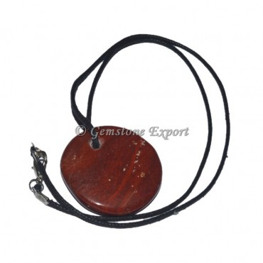 Red Jasper Disc Pendant