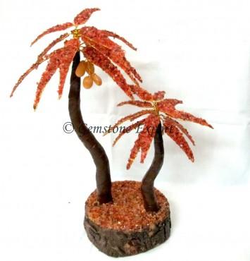 Red Carnailain Palm Stone Tree