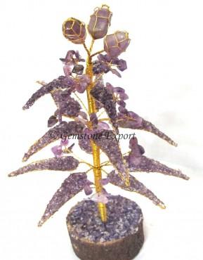 Ametyst Quartz Gemstone Tree