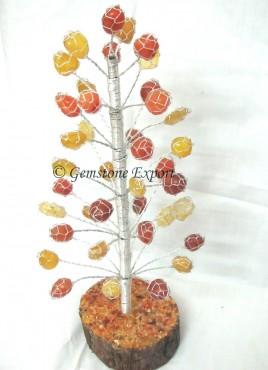 Mix Agate Tumbled Stones Tree