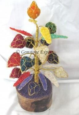 Mix Stone Gemstone Tree