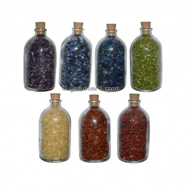 Seven Chakra Big Size Gems Bottle Set