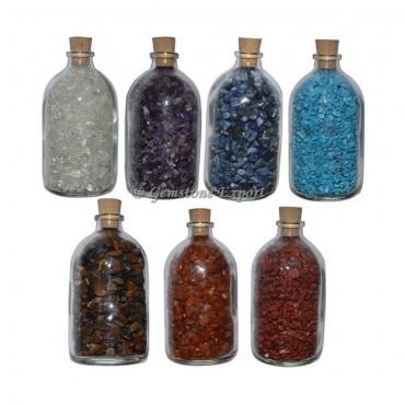 7 Chakra Large Size Gems Bottle Set