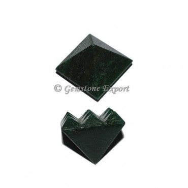 Dark Green  Lemurian 9 Cut Vastu Pyramid