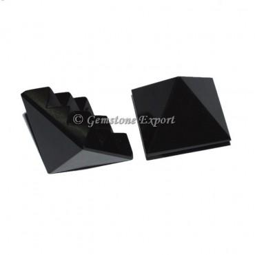 Black Agate  Lemurian 9 Cut Vastu Pyramid