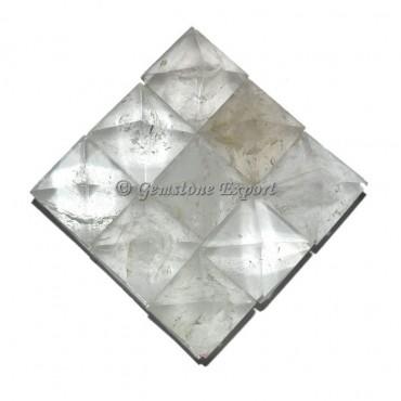 Crystal Quartz Lemurian 9 Charging Plate Pyramid