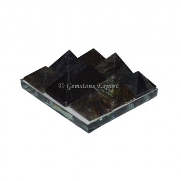 Gray Agate Lemurian 9 Charging Plate Pyramid