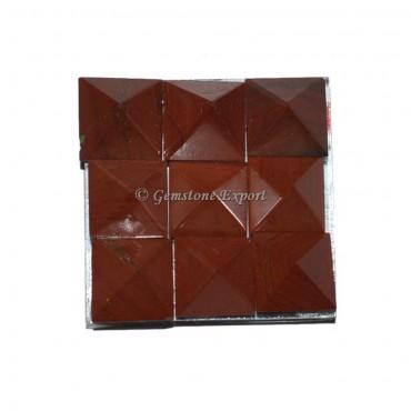 Red Jasper Lemurian 9 Charging Plate Pyramid