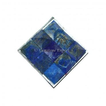 Lapis Lazuli Lemurian 9 Charging Plate Pyramid