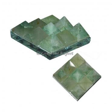 Green Aventurine Lemurian 9 Charging Plate Pyramid