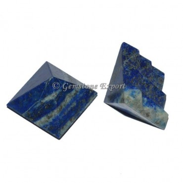 Lapis Lazuli Lemurian 9  Cut Vastu Pyramid