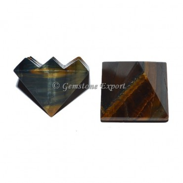 Tiger Eye Lemurian 9 Cut Vastu Pyramid