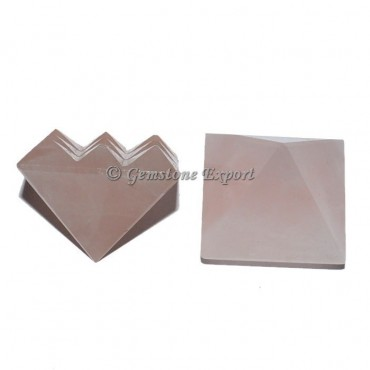 Rose Quartz Lemurian 9 cut Vastu Pyramid