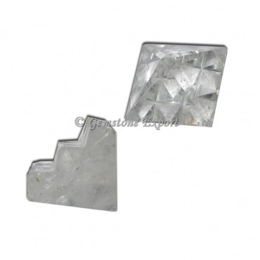 Crystal Quartz Lemurian 9  Cut Vastu Pyramid