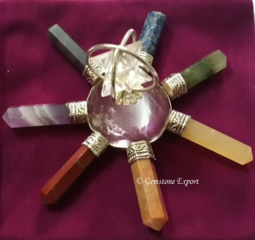 Chakra Energy Generator With Merkaba Star