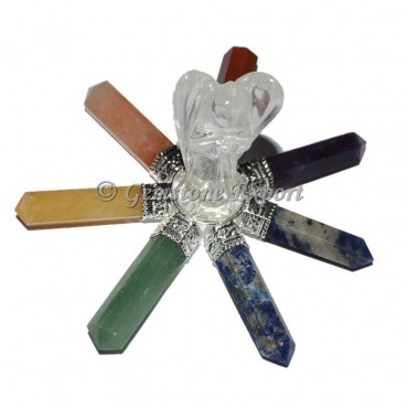 Crystal Angel with Chakra Point generator