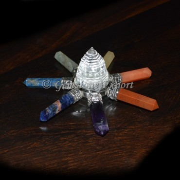 Chakra Pencil With Crystal Shree Yantra Generator