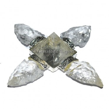 Crystal Quartz Arrowheads Pyramid Energy Generator