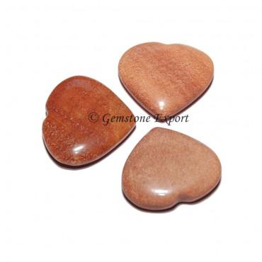 Peach Aventurine Hearts