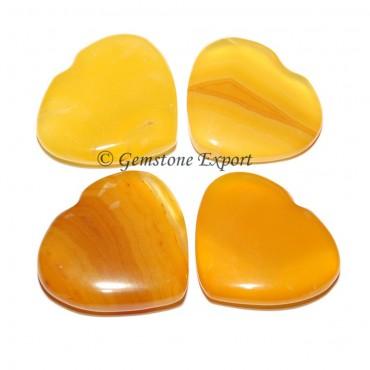 Yellow Onyx  Small Hearts