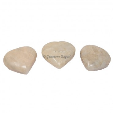 Cream Moonstone Big Hearts