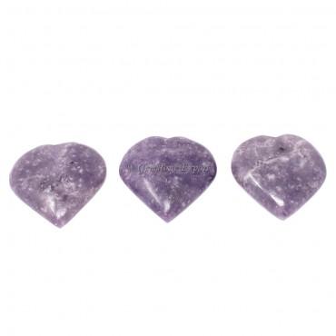 Lepidolite Big Hearts