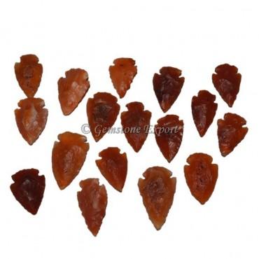 Red Carnelian Arrowheads