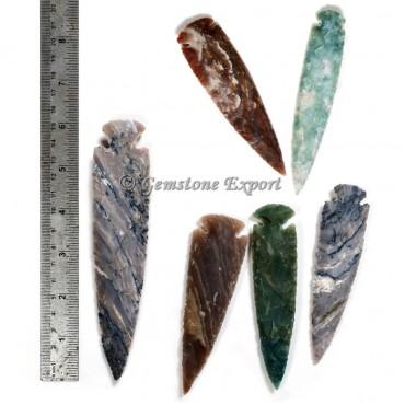 Agate  Arrowheads 6 Inch