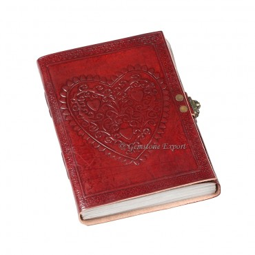 Heart Graphics Leather Diary