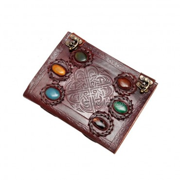 Mix Gemstone Leather Journals