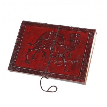 Camel Print Leather Journals