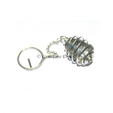 Labrodrite Cage Tumbled Keyring