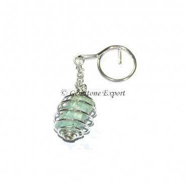 Amazonite Cage Tumbled Keyring