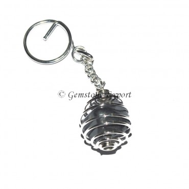 Ghanmetal Cage Tumbled Keyring